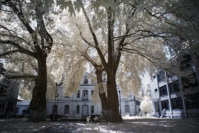 infrared shot of the school building