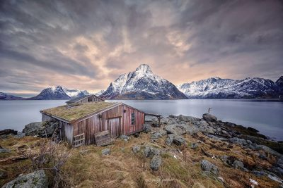natural hut in lofoten, norway