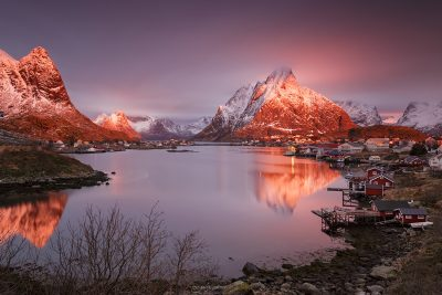 panoramic view from reine, lofoten, norway