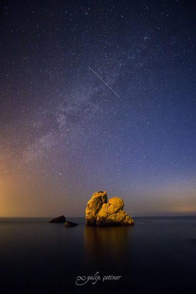 starry night in eskel, bursa, turkiye
