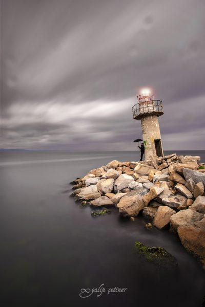 longexposure with the lighthouse in bursa, turkiye