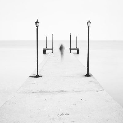 longexposure on the pier in black&white