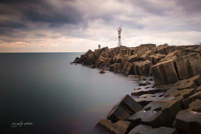 akcakoca lighthouse in duzce, turkiye