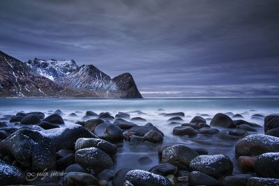 epic evening in Unstad beach, Lofoten, Norway