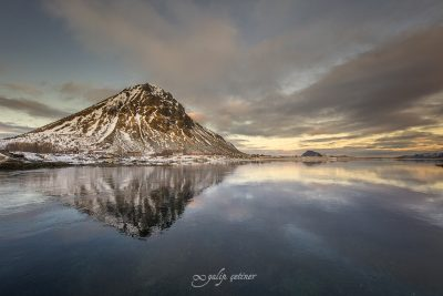 natural view from gimsoy, lofoten, norway